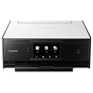 Canon PIXMA TS9050 All-in-One Wireless Wi-Fi Printer with Auto-Tilting Touch Screen, White/Black