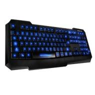 Koolertron illuminated Multi-media USB Backlit Light Wired Gaming Computer PC Keyboard(Blue Light)