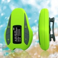 Aerb® 4G Waterproof MP3 Music Player With Mono OLED Screen Display Support FM Radio / Pedometer for Swimming & other Sports (IPX-8 Standard)--Green