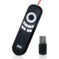 August LP180B Puntatore a Laser rosso per presentazioni PowerPoint - Con mouse remoto da 2.4GHz / cambio pagina / tasti di scelta rapida - batterie in