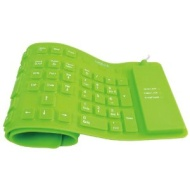 LogiLink Tastatur LogiLink Waterproof Keyboard,flexibel, wasserfest, PS2, USB, grün