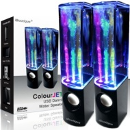 iBoutique ColourJets USB Dancing Water Speakers for PC/Mac/MP3 Players/Mobile Phones/Tablets - Jet Black