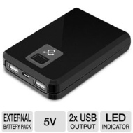 Aluratek APB02F Portable Battery Charger - 8000 mAh, Built-in Lithium-Ion Battery, 2 USB Ports