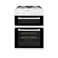 Beko KDG611W 60cm Gas Cooker with Full Width Gas Grill - White