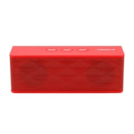 TECEVO T4 NFC Bluetooth Wireless Speaker With NFC Pairing And Microphone - 6W RMS - Red