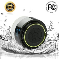 Bluetooth Shower Speaker ® - Best Waterproof Speakers, Fully submersible & Portable Design ~ Lifetime Guarantee ~ Play Wireless Music with Crisp Audio