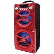 Sylvania SP328-Red Portable Bluetooth Speaker
