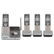 AT&T CL82401 DECT 6.0 Cordless Phone, Silver/Grey, 4 Handsets