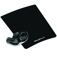 "Fellowes Gliding Palm Support with Microban Protection - TAA Compliant - 0.8"" x 9"" x 11"" - Black 9180701"