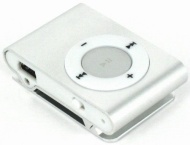 Mini Fashoin Clip Metal MP3 Music Player , Support 1 - 8GB SD Card (Silver)