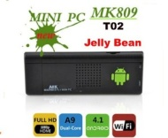 T02 MK809 Mini scatola del dongle del PC TV del Android 4.1 Cortex A9 Dual Core 1.6GHZ 1GB DDR di memoria 4GB