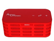 Audio Dynamix® MESH® Stereo Bluetooth Speaker -Red - 20hrs playtime, 15mtr BT range and enhanced bass
