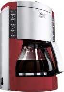 Melitta Look Deluxe Filter Coffee Machine Red/Silver
