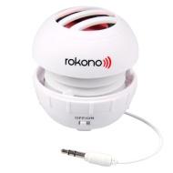 Rokono BASS+ Mini Speaker for iPhone / iPad / iPod / MP3 Player / Laptop - White