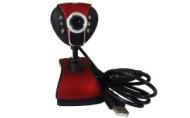 Sunvalleytek Y19 Webcam, Night Vision, Microphone Built In, Rose Red