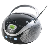 Coby Portable MP3/CD Player with AM/FM Radio - Black (MPCD471)