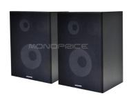 Monoprice 8 Inch 3-Way Bookshelf Speakers (Pair) - Black