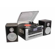 Steepletone SMC922 5-in-1 Music System With CD Recording And Remote Control - Silver