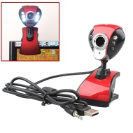 USB 50.0M 6LED Night Vision Webcam Camera Web Cam With Mic for Desktop PC Laptop