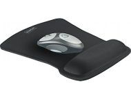 Staples Mouse Pad with Gel Wrist Rest, Black