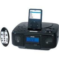 Jensen JIMS-210 Universal iPod Docking Station with CD/Alarm/Radio