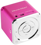 MusicMan TXX3531 Mini Soundstation (MP3 Player, Loudspeaker, Line In Function, SD/microSD card slot) Pink