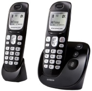 Sagemcom D380A Twin DECT Cordless Telephone with Answering Machine - Black