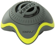 Kinivo ZX100 Mini Portable Speaker with Rechargeable Battery and Enhanced Bass Resonator (Grey, Purple)