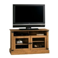 Sauder Registry Row Panel TV Stand - Amber Pine