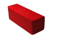 Supersonic SC1365BTRD Wireless Speaker with Built-In Receiver - Red