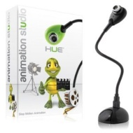 Hue Animation Studio (Black) for Windows PCs and Apple Mac OS X: complete stop motion animation kit with camera