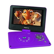"""Koolertron 9"""" Portable DVD Player With 180° Rotating Swivel LCD Built in Rechargable Battery Game Player As Birthday Xmas Present For Kids And Parents"""