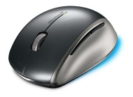 Microsoft Explorer Mouse - Mouse - optical - 5 button(s) - wireless - 2.4 GHz - USB wireless receiver - silver, anthracite