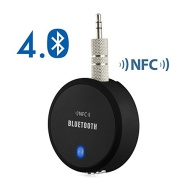 eSynic® NFC-Enabled Bluetooth 4.0 A2DP APTx Audio Stereo Receiver Music Adapter Hands free Car Kit For iPhone 6 6 Plus iPod iPad Samsung HTC Smartphon
