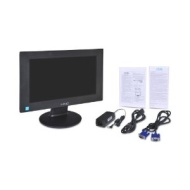 "Hannspree IK141ABB LCD Monitor - 14"" - LED 8 ms - 16:9 - Adjustable Display Angle: Yes - 1366 x 768 - 262,000 Colors - 220 Nit - 500:1 - VGA: Yes"