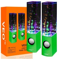 VEO | Dancing Water Speakers | USB Lautsprecher mit buntem Wasserspiel für PC, MAC, Laptop, MP3-Playern, Tablets & Smartphones sowie iPhone und Samsun