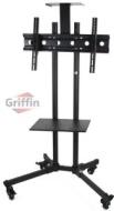 Plasma LCD Cart Flat Screen Panel TV Stand Mount Nesting AV Mobile Wheels Caster with Shelves 60 Griffin