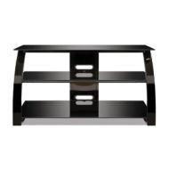 Bell'O Flat Panel Audio/Video Furniture High Gloss Black Finish PVS4204HG