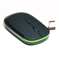 COSMOS Black 2.4G 2.4 G Nano Wireless RED Optical light Mouse mice Set with Dpi Switch Black (800-1200 DPI) for macbook (PRO) toshiba dell laptop + C