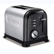 Morphy Richards 44739 Accents 2 Slice Stainless Steel Toaster - Black