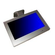 "Visua 10.2"" Silver Under Cabinet Digital Flip Down Kitchen / Caravan / Motorhome TV"
