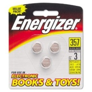 Energizer : Watch/Electronic/Specialty Batteries, 357, 3 Batteries per Pack -:- Sold as 1 PK