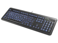 IMPECCA Impecca Slim Illuminated Keyboard w/ Large Font & LED Backlit Keys (KBL200) in Black