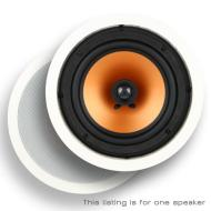 """Micca M-8C 8 Inch 2-Way In-Ceiling In-Wall Speaker with Pivoting 1"""" Silk Dome Tweeter (Each, White) - Fulfilled By Amazon"""