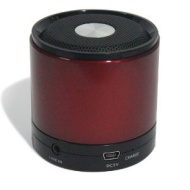 GadgetinBox™ Bluetooth Wireless Speakers for iPhone's / iPod's / iPad's / Laptops / Mobiles / Mp3 player devices (Red)