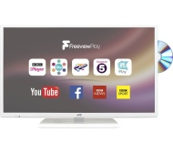 """JVC LT-32C676 32"""" Smart LED TV with Built-in DVD Player - White"""