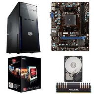 AMD A6-5400K Processor / MSI A55M-E33 MB / 4GB DDR3 Patriot Viper Xtreme Memory / Seagate Barracuda 500GB HDD / Cooler Master Elite 241 Desktop MidTow