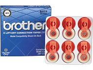 Brother 3015 LIFT-OFF Correction Tape - 6 / Pack - Black 3015