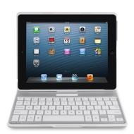 Belkin F5L149edWHT Etui + clavier AZERTY en aluminium avec finition haut de gamme pour iPad 2/3/4 Bluetooth Blanc