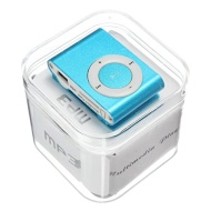 Portable Hot Clip Metal USB MP3 Music Media Player Support 1--16GB Micro SD/ TF (Blue)